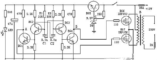 逆变器工作原理电路图