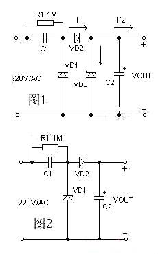 简单直流降压电路图