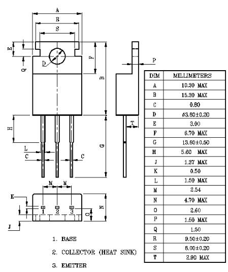 tip42c参数,tip42c引脚图电路图,tip42c