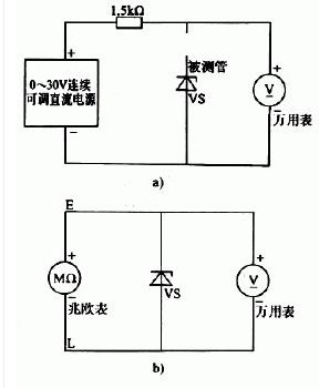 稳压二极管的检查方法图