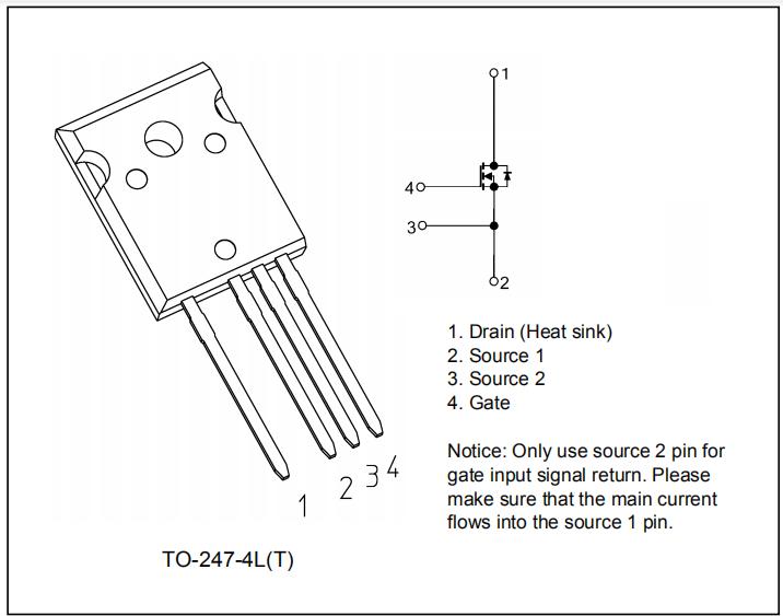 TO-247-4L封装的超级结MOSFET