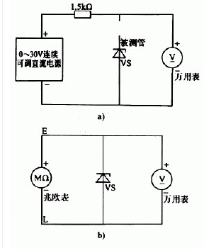 稳压二极管的检测方法